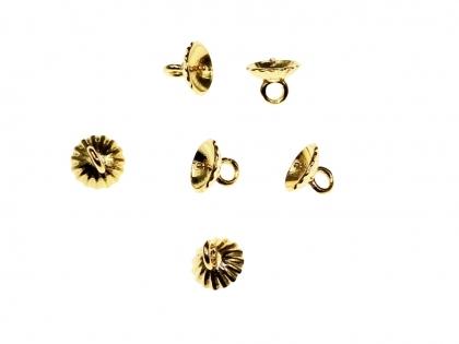 Element de prindere pentru perla cu un orificiu argint 925 placat cu aur 24k 0