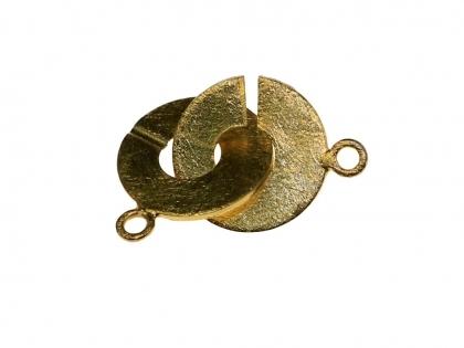 Inchizatoare decorativa  argint 925 placat cu aur galben 30 mm 0