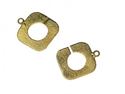 Inchizatoare decorativa  argint 925 placat cu aur galben lungimea 40 mm 0