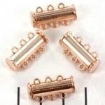 Inchizatore 3 siruri cu magnet culoare auriu roz [0]