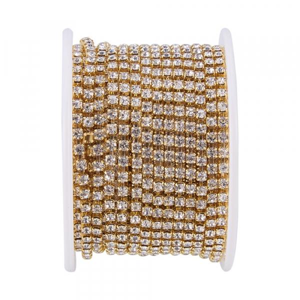 lant-auriu-cu-stras-rhinestone-cristal 0