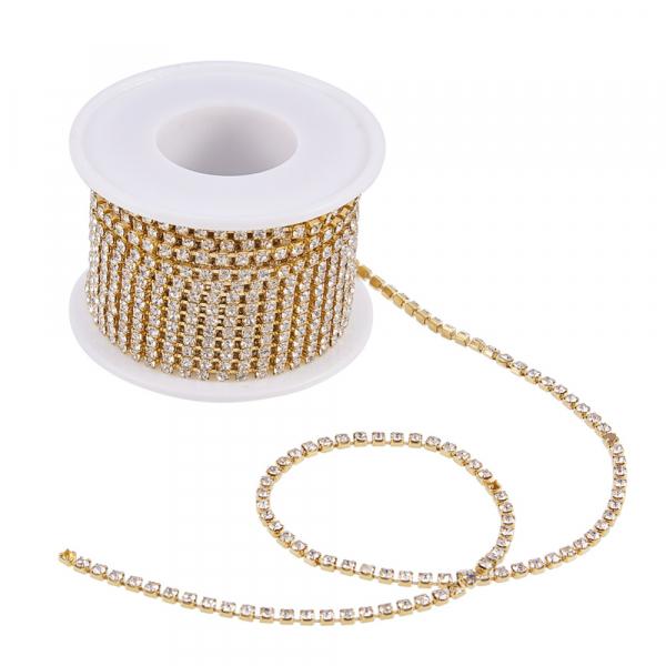 lant-auriu-cu-stras-rhinestone-cristal 1