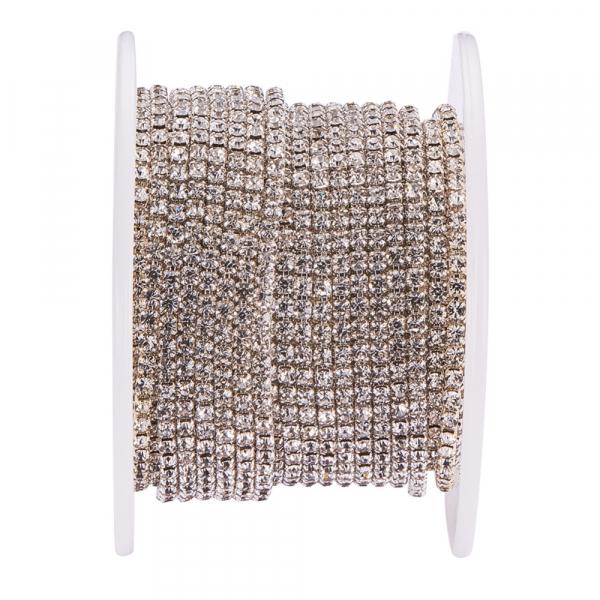 lant-cu-stras-rhinestone-cristal-argintiu 0