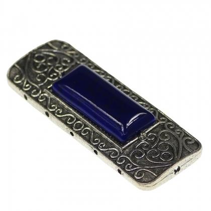 Link multisir stil tibetan fara plumb cadmiu si nichel cu element albastru inchis din rasina 0