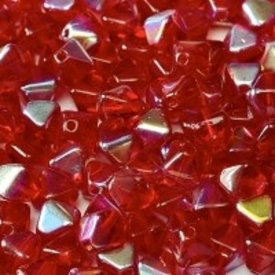 Margele biconice 6 mm Red AB 0