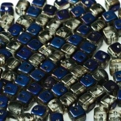 Margele cehesti Crisscross cube Crystal Full Azuro 2hole [0]