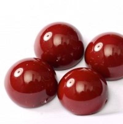 Margele cehesti Dome 10x6 mm Cranberry 0