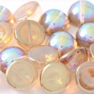 Margele cehesti Dome 10x6 mm Crystal Brown Rainbow 0