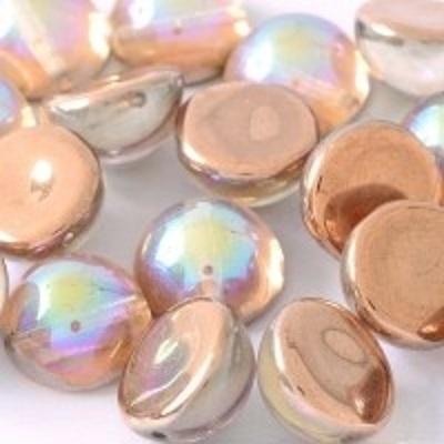 Margele cehesti Dome 10x6 mm Crystal Copper Rainbow 0