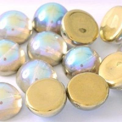 Margele cehesti Dome 10x6 mm Crystal Golden Rainbow 0