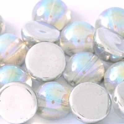 Margele cehesti Dome 10x6 mm Crystal Silver Rainbow [0]