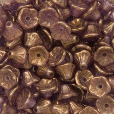 Margele cehesti Floare clopotel 7x5 mm Crystal bronze 0