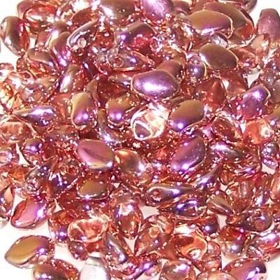 Margele cehesti Gekko 3x5 mm Crystal capri  0