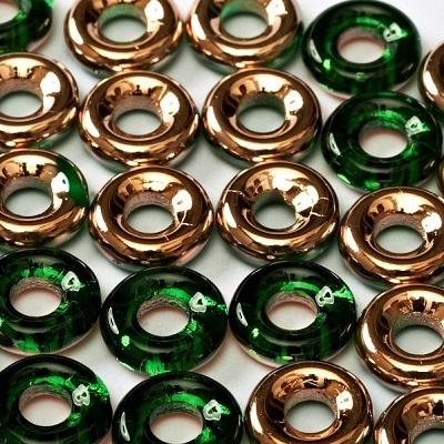 Margele cehesti Inele 10 mm Emerald Capri Gold 0