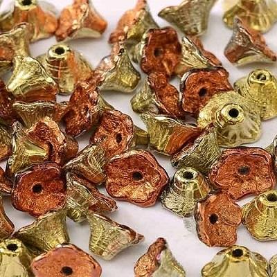 Margele cehesti Floare clopotel 7x5 mm California gold rush [0]