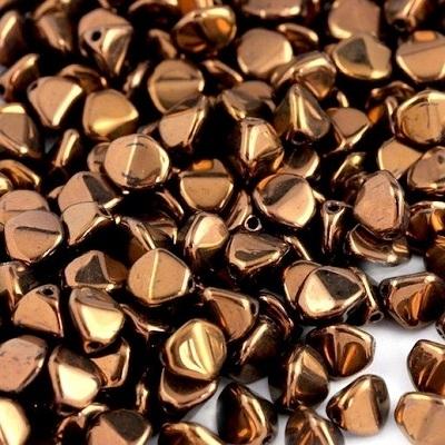 Margele cehesti Pinch 7 mm Jet bronze [0]