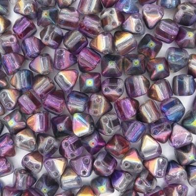Margele cehesti Piramida 6x6 mm Crystal margintic purple 0