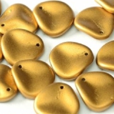 Margele cehesti Rose petal 14x13 mm Brass gold [0]