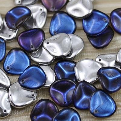 Margele cehesti Rose petal 14x13 mm Crystal bermuda blue [0]
