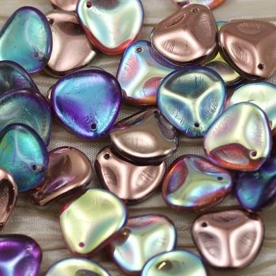 Margele cehesti Rose petal 14x13 mm Crystal copper rainbow [0]