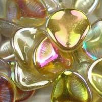 Margele cehesti Rose petal 14x13 mm Crystal lemon rainbow [0]