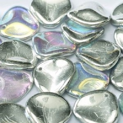 Margele cehesti Rose petal 14x13 mm Crystal silver rainbow [0]