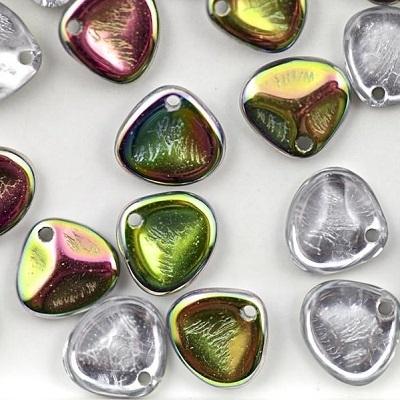 Margele cehesti Rose petals 8x7 mm Crystal vitrail [0]