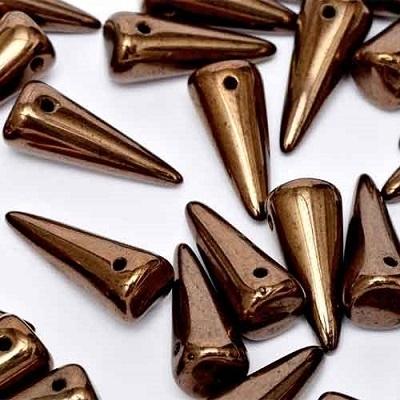 Margele cehesti Spike 7x17 mm Jet bronze [0]