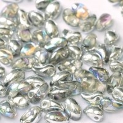 Margele cehesti Tulip petal 4x6 mm Crystal silver rainbow [0]