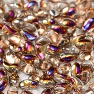 Margele cehesti Tulip petal 4x6 mm Crystal sliperit [0]