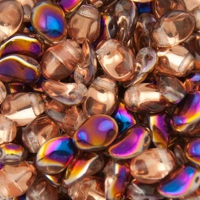 Margele cehesti Tulip petal 6x8 mm Crystal sliperit [0]