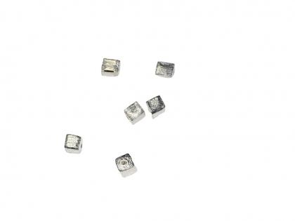 Margele decorative cub argint 925 L 4 mm [0]