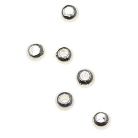 Margele metalice 2,5 mm placate cu argint 0