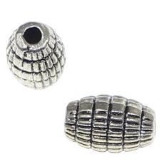 Margele metalice ovale cu lungimea de 8 mm 0