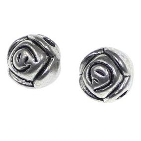 Margele metalice trandafir 0