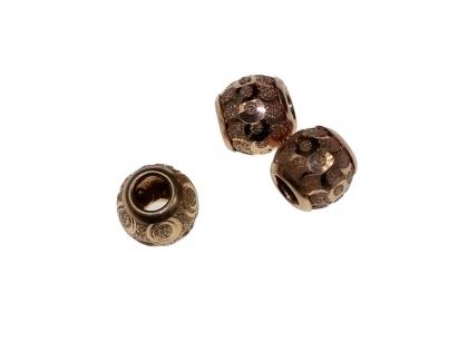 Margele rotunde cu fatete argint 925 placat cu aur roz  D 10 mm [0]