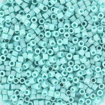 Miyuki delica 11/0 - opaque matte ab turquoise greenKR-MIDE11-878 [0]