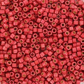 Margele Miyuki Delica 11/0 duracoat galvanized matte light cranberry KRMIDE111841F 0