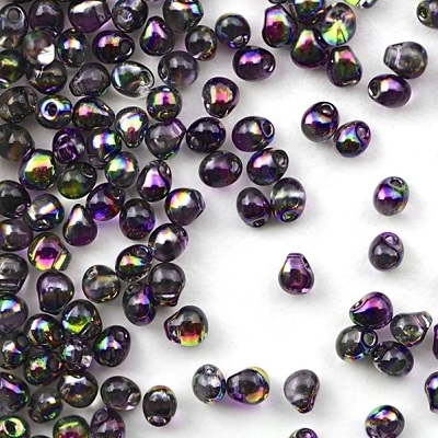 Margele Miyuki Drops 3,4 mm Crystal Margintic Purple [0]