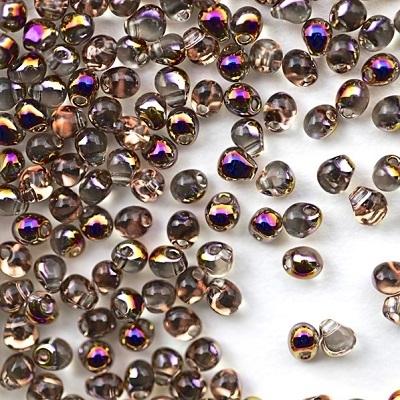 Margele Miyuki Drops 3,4 mm Crystal Sliperit 0