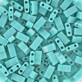Miyuki half tila 5x2.3 mm - opaque turquoise greenKR-MITL2-412 [0]
