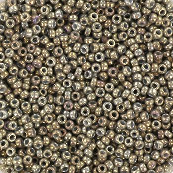 Miyuki seed beads 15/0 - opaque luster smoke grayKR-MISE15-1865 [0]