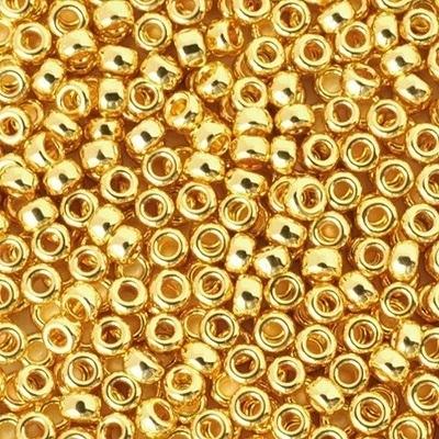 Margele Miyuki Rocailles 11/0 24kt Gold Plated 0191 0