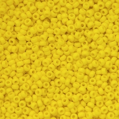 Margele Miyuki Rocailles 11/0 Opaque yellow 0404 0