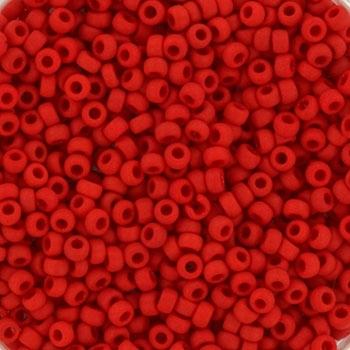 Margele Miyuki Rocailles 11/0 opaque matte red KRMISE11408F [0]