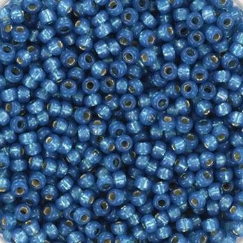 Margele Miyuki Rocailles 11/0 silverlined dyed alabaster denim blue KRMISE11648 0