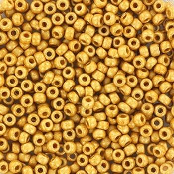 Miyuki Rocailles 8/0 duracoat galvanized matte gold 0