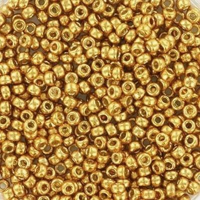 Margele Miyuki Rocailles 11/0 duracoat galvanized yellow gold  114203 0