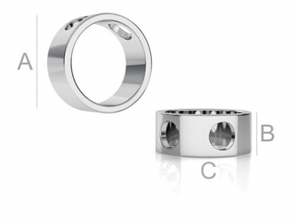 Pandantiv inel argint 925 D 10,5 mm [0]