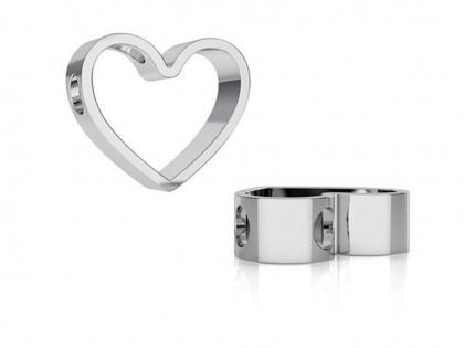 Pandantiv inima argint 925 L 13 mm [0]